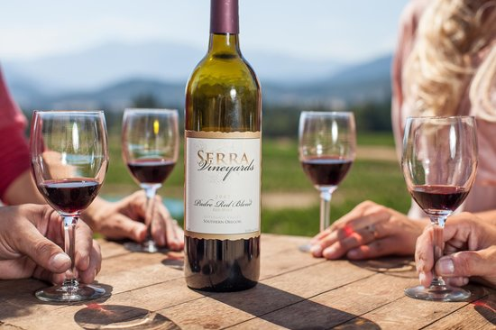 Wine Hopper Tours: Serra Vineyards view from new tasting room