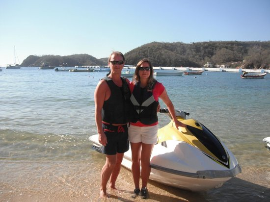 Huatulco Watersports Jet Ski and Boat Tours:                   Here we go