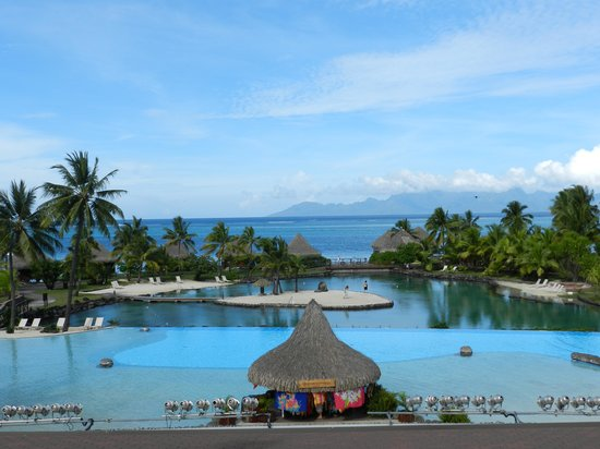 InterContinental Resort Tahiti:                   View from the lobby