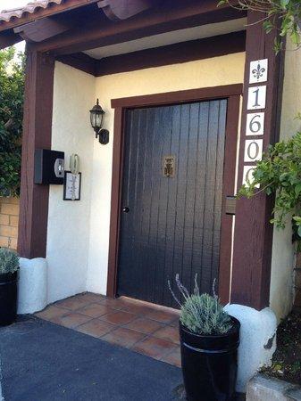 La Maison Hotel :                   Front door to La Maison