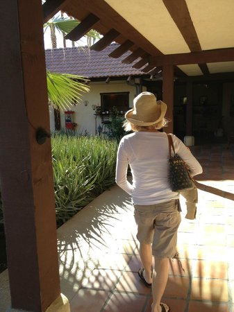 La Maison Hotel :                   Walking just outside of pool side rooms