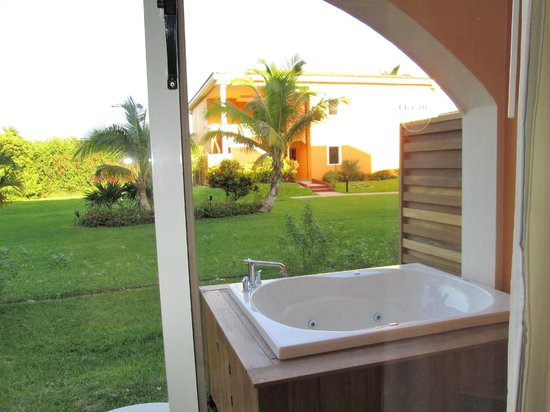 Ocean Maya Royale:                   Jacuzzi and view from our room