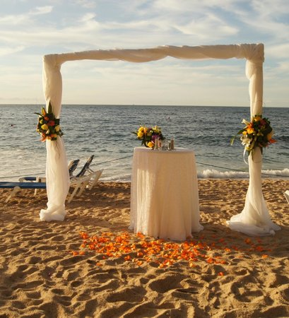 Barcelo Puerto Vallarta:                   Our Wedding Vow Renewal Setting