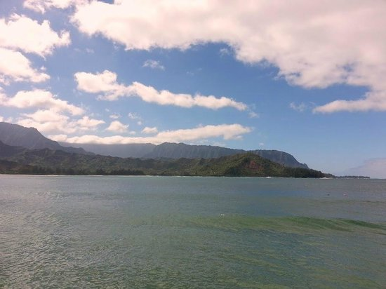 St. Regis Princeville Resort: View of Hanalei Bay and Napali Coast