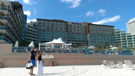 Heaven at the Hard Rock Hotel Riviera Maya:                   Hard Rock Cancun from the beach