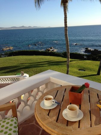 One & Only Palmilla: espressos on room patio