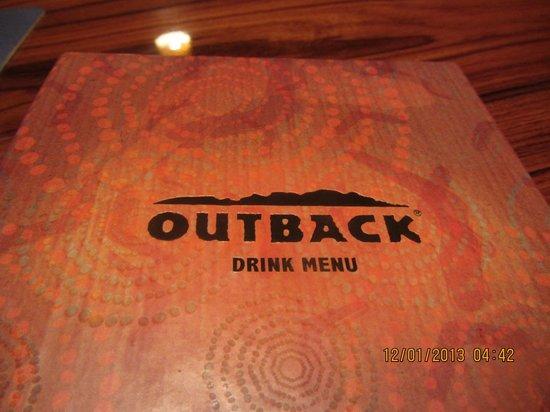 Outback Steakhouse: Getränkekarte