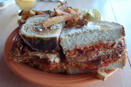 Melt Bar & Grilled: The Godfather - heaping helping of lasagna made into a sandwich