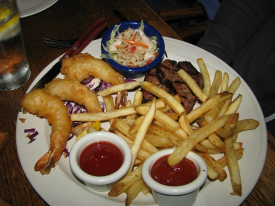 The Whaling Company: Steak and shrimp
