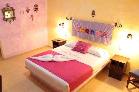 Hotel Casa de las Flores Playa del Carmen: Camera da letto