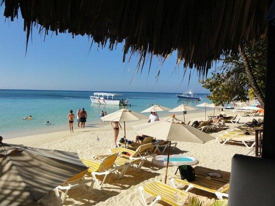 Mayan Princess Beach & Dive Resort: Beach view from our cabana