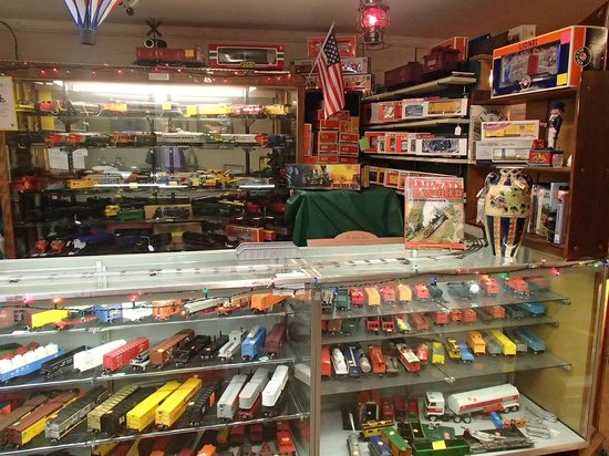 Whistlestop Antiques:                   Trains trains and more trains.