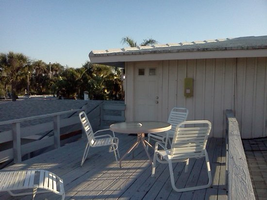 A Place to Be Motel:                   Upstairs rooms offer individual deck space