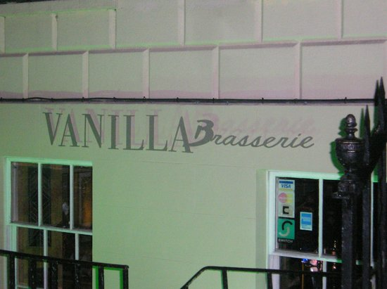 Vanilla:                   Front of Restraunt at night...
