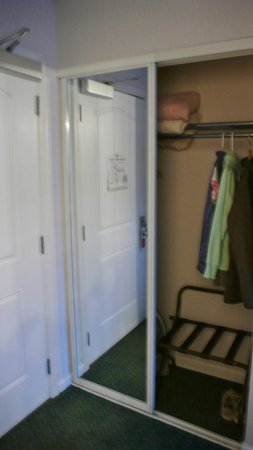 Inn at the Shore:                   Roomy closet with mirror doors