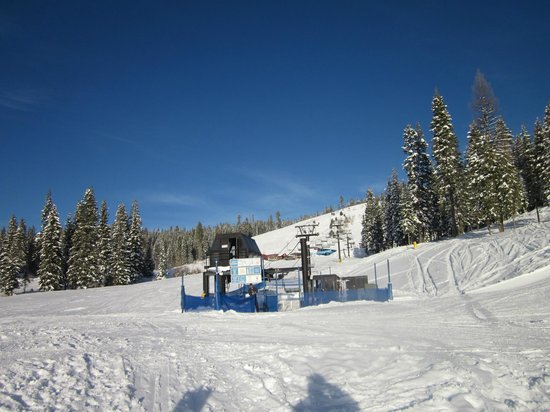 Brundage Mountain: View of Easy Street...The beginner slope.