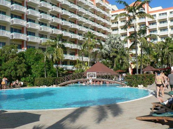 Sonesta Maho Beach Resort, Casino & Spa:                   Main Hotel and Pool