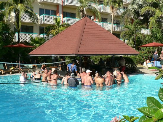 Sonesta Maho Beach Resort, Casino & Spa:                   Swim Up Pool Bar