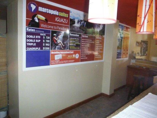 Marcopolo Suites Iguazu:                   Recepcion