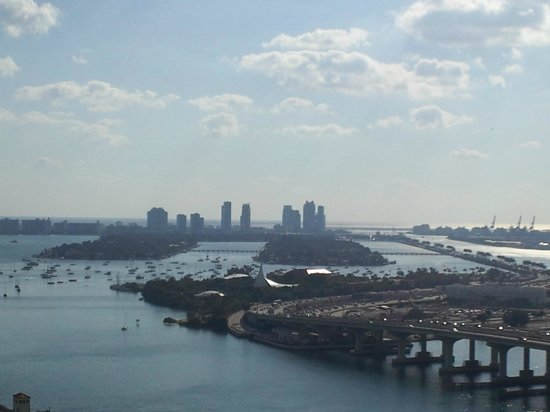 Miami Marriott Biscayne Bay:                   This was a view of the bay and Miami Beach from the room.