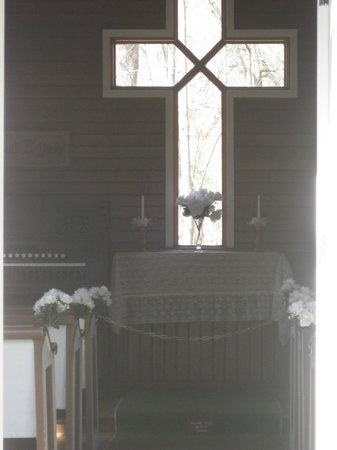 Crystal River:                   the inside of the chapel