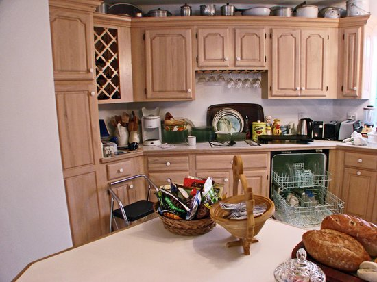 RiverView B&B Inn:                   large kitchen, refrigerator stocked with complimentary items