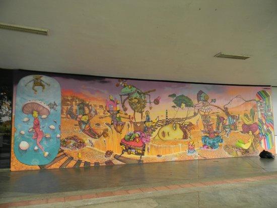 Modern Art Museum of Sao Paulo: Mural exterior