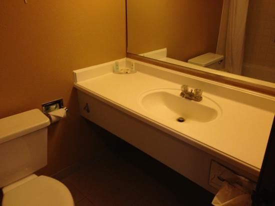 Econo Lodge Inn & Suites:                   bathroom sink