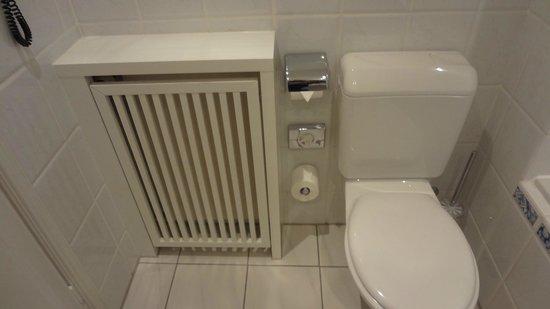 Hotel Nassauer Hof:                                     Toilet and heater.
