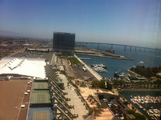 Marriott Marquis San Diego Marina:                   View from our room