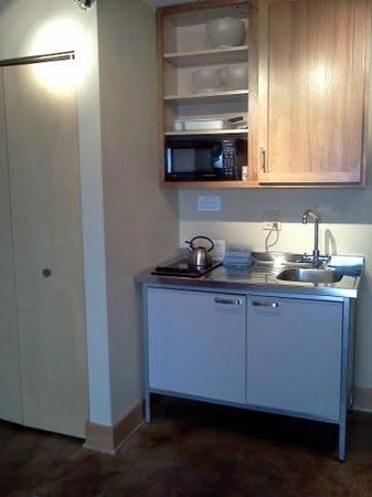 East Bay Suites:                   Compact, yet fully functional kitchen.