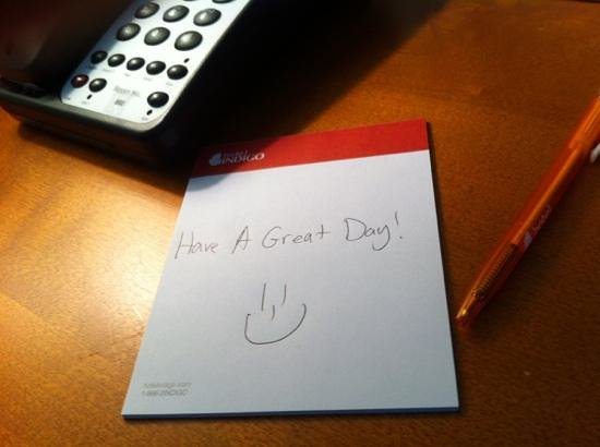 Hotel Indigo Asheville Downtown:                   cute note from housekeeping staff