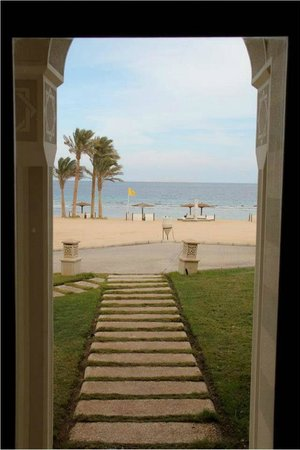 The Oberoi Sahl Hasheesh:                   View from the front door of our suite.