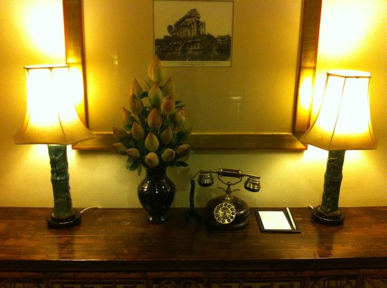 Raffles Grand Hotel d'Angkor:                   They even got the phones to blend in with the classic feel of the hotel.