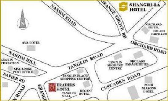 Shangri-La Hotel, Singapore: Map