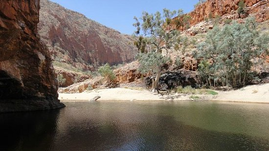 West MacDonnell National Park, Αυστραλία: Ormiston Gorge, swimming hole