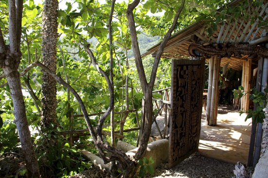 Great Huts:                   Entrance to our hut