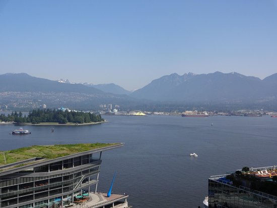 Fairmont Waterfront:                   view from the room