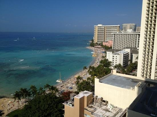 Aston Waikiki Beach Tower:                   Our View!!