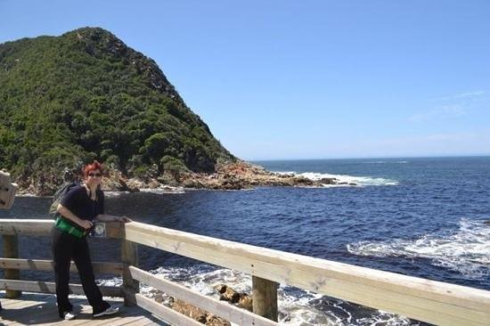 Storms River Mouth Restcamp: At the suspension bridges