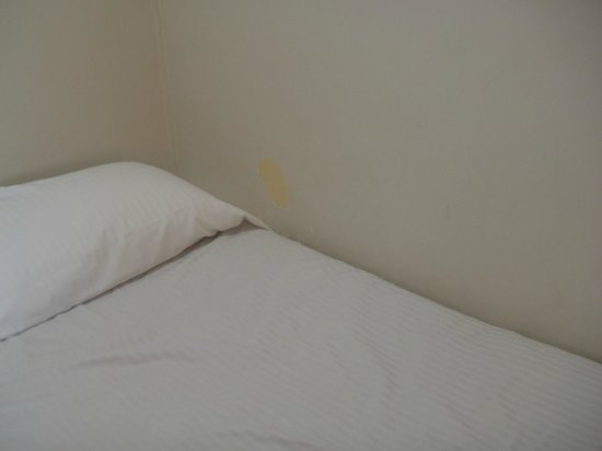 Kiama Cove Motel:                   Paint missing off the wall next to the kids beds