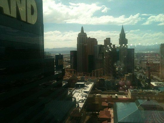 Skylofts at MGM Grand:                   Skyloft with view of the Strip
