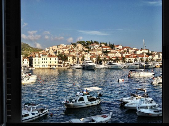 Adriana, hvar spa hotel:                   view from the hotel