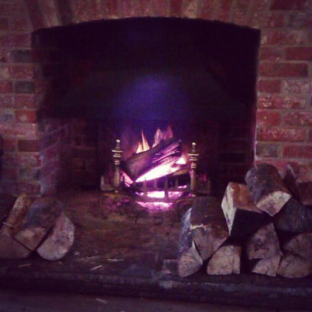 World's End:                   Log fire in the restaurant..