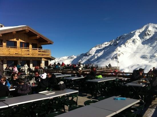 La Creche Restaurant d'Altitude : La Créche vue sur l'aiguille rouge