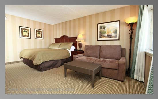 The Grand Hotel: Choose from King Beds with Comfy Sleeper Sofas, one of your many choices in room types available