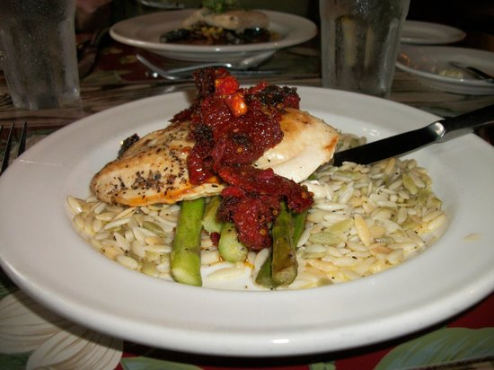 The Inn & Spa at Cedar Falls:                   Dinner chicken with sundried tomatoes