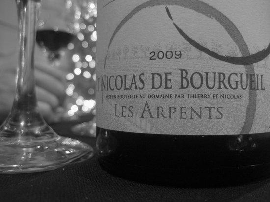 Le Cottage:                   wine