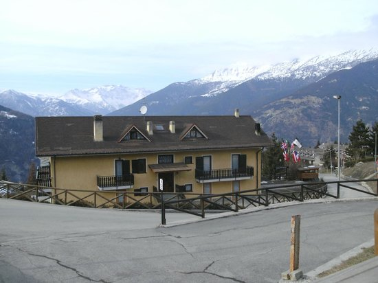Hotel Martin :                   Hotel with the Italian alps in the background...