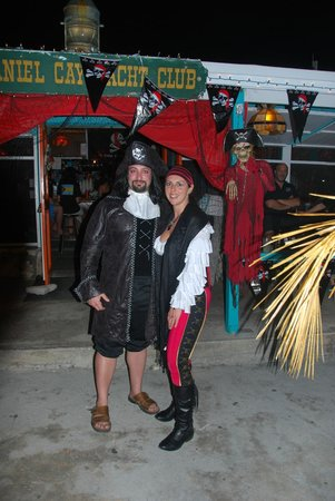Staniel Cay Yacht Club:                   Pirate Party